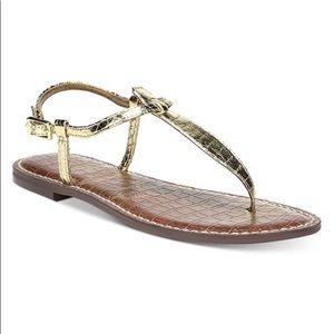 Gold basic sandal